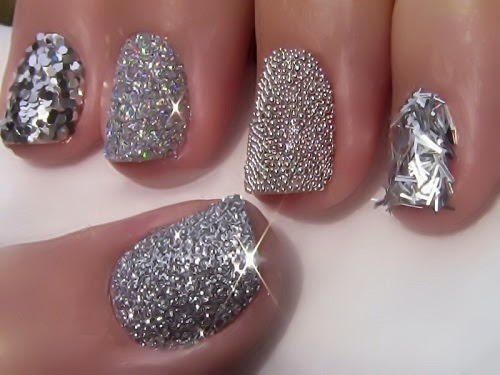 Quick and easy silver nail design ideas 2015 jolienailsbeauty 30 kieu nails mau bac de thuc hien prinsesfo Choice Image